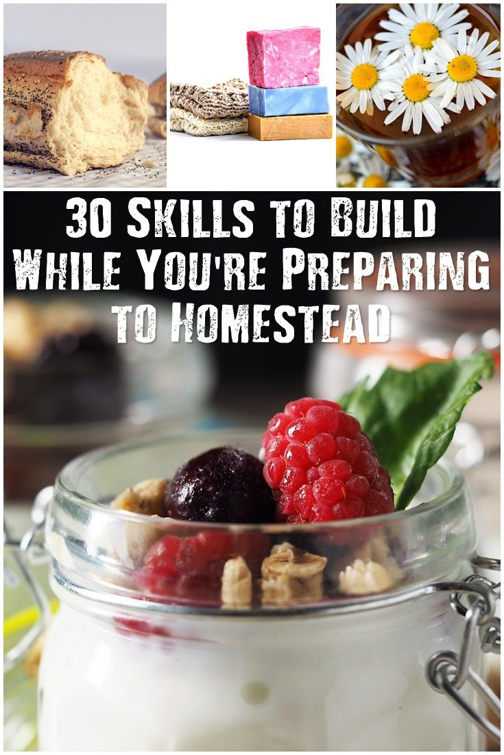 30 Skills to Build While You're Preparing to Homestead - There are many different skills you will need to be self sufficient and ready to homestead. If you're don't own that perfect piece of land yet, there is still time to start honing your skills in areas that will be advantageous when you finally get off the grid (or as close to it as we can!).