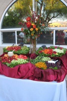 Wedding Receptions Foods Displays | The fruit and vegitable display were beautiful.