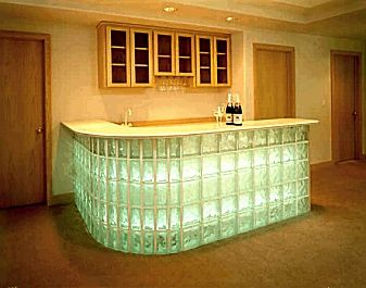 reception area? Glass Block Installation