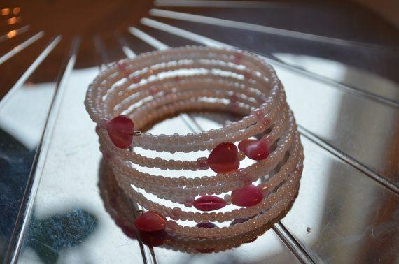 Glass bead wrap bracelet / Lasihelmi kierrettävä rannekoru