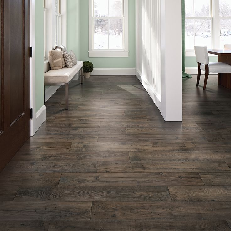 Exceptional Pergo MAX Premier 7.48 In W X 4.52 Ft L Smoked Chestnut Embossed Wood Plank Laminate  Flooring LF000800