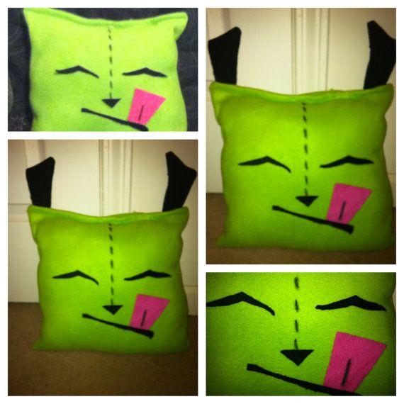 Invader Zim Gir Fleece Pillow by SupernovaCostuming on Etsy, $25.00