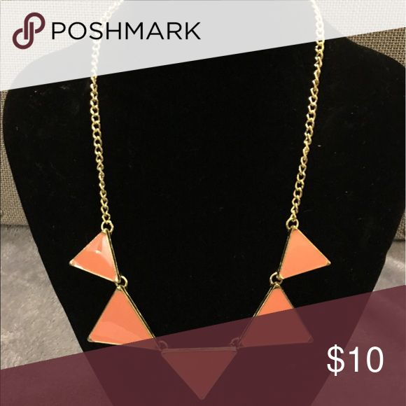 Peach necklace New with tags! Peach triangle necklace Jewelry Necklaces
