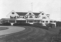 The Kennedy Compound or Hyannis Port Historic District is the name given to six acres (24,000 m²) of waterfront property on Cape Cod along Nantucket Sound in Hyannis Port, Massachusetts,