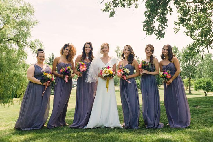 mariage robe demoiselle d'honneur lilas // purple bridesmaids dresses