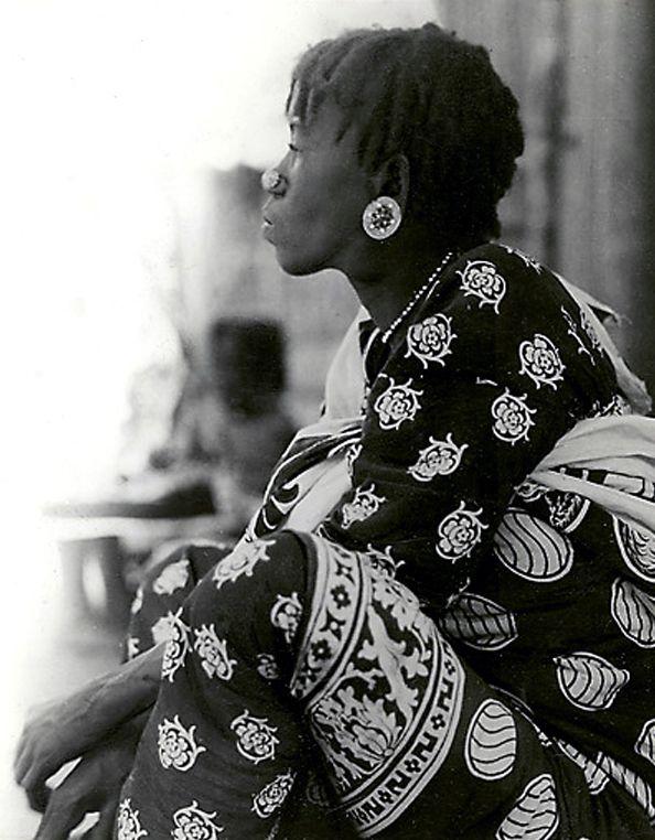 Africa | Sakalava woman.  Madagascar | ca. 1930/58.  Photographer unknown.
