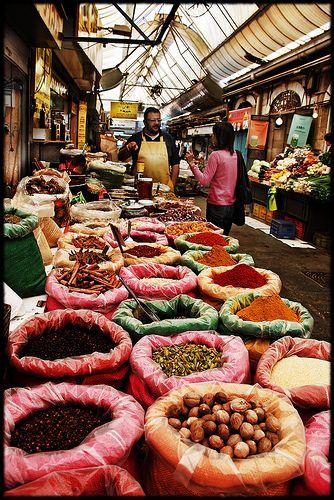 shoping for spices, Mahane Yehuda market, Jerusalem by Meir Jacob | מאיר יעקב, via Flickr