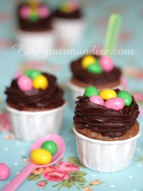 Cupcakes paques chocolat m's  Pure gourmandise