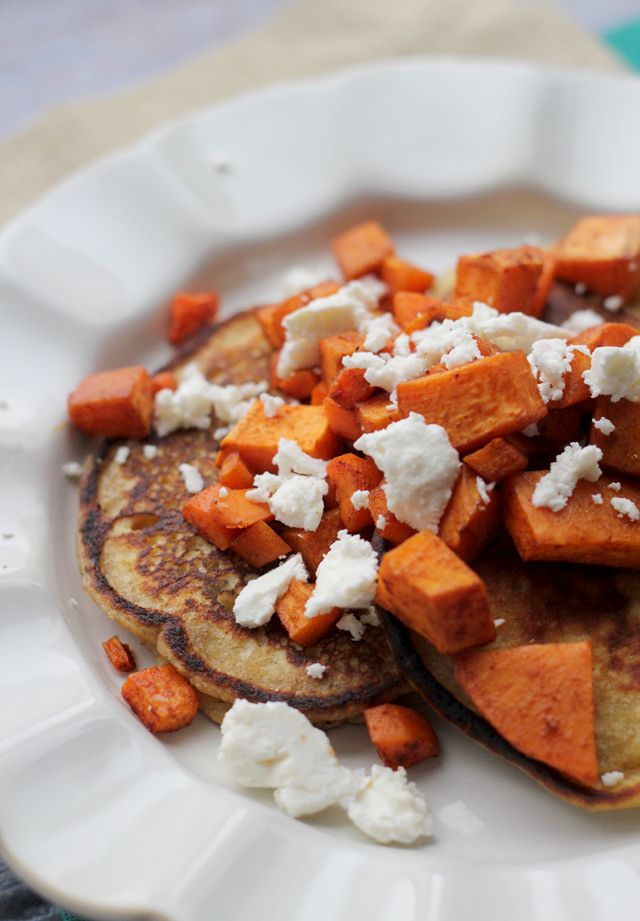 Savory Chickpea Pancakes with Spicy Roasted Carrots, Sweet ...
