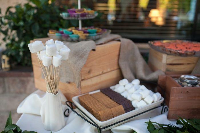 Smores Bar. From Real Wedding: Leilani and Brandon's DIY Backyard California Wedding.