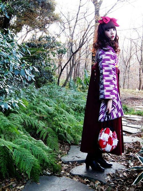 上野瞳さんの「ふりふサテンリボンカチューシャ」を使ったコーディネート