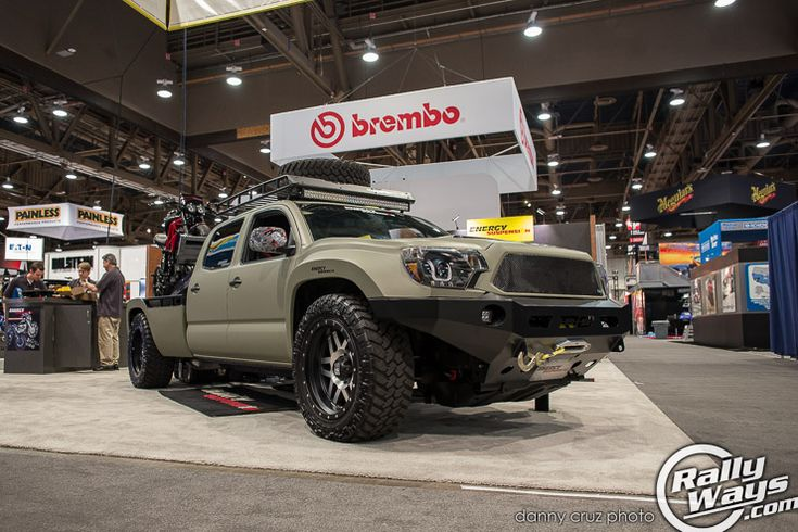 Fully custom Toyota Tacoma late gen 2 at SEMA 2014. #rallyways #toyotatacoma #tacoma #trucks