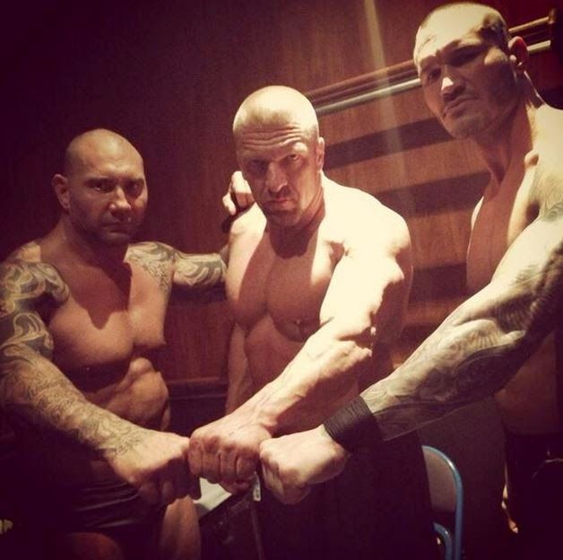 Believe in Evolution (Official WWE 2014 Reunion Photo Mocking The Shield)
