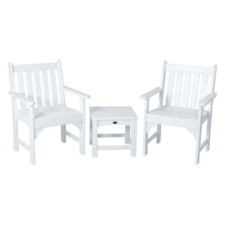 Outdoor POLYWOOD® Vineyard Recycled Plastic 3 Pc. Garden Chair Set    PWS142 1 MA