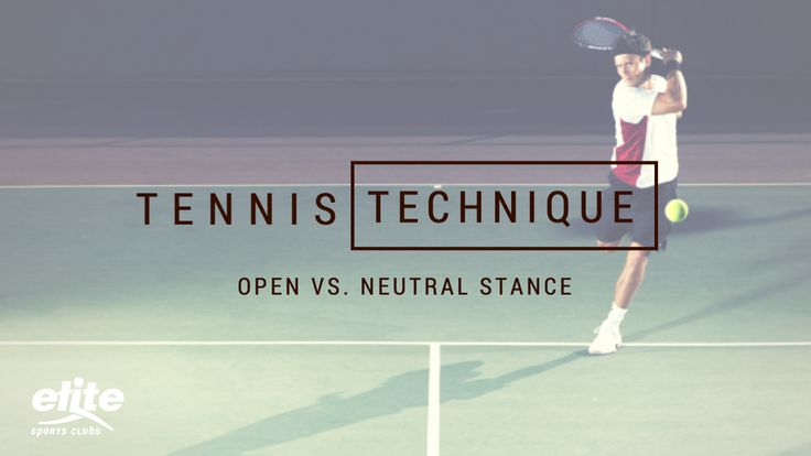 Tennis Technique: Open Stance vs. Neutral Stance for Ground Strokes