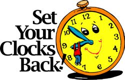 Did you remember to turn your clocks back last night? Or this morning to be precise (2 AM)?    I hate changing time. Probably because ...