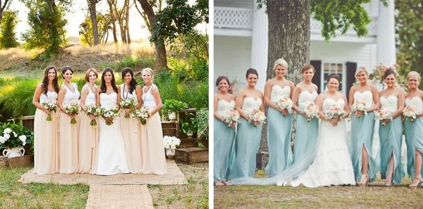 More of the same………………………….. Two tone Bridesmaid Dresses   SouthBound Bride