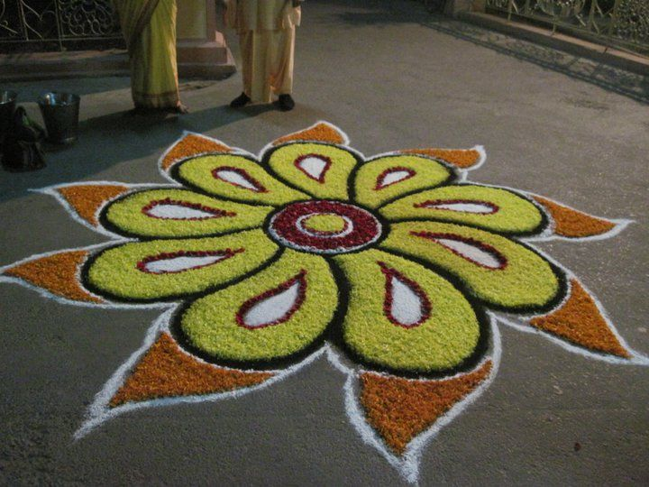 Flower Rangoli, Mayapur