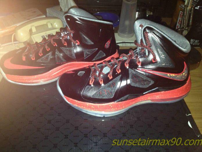 Best Cheap Nike Lebron X 10 Cheap sale Black Red