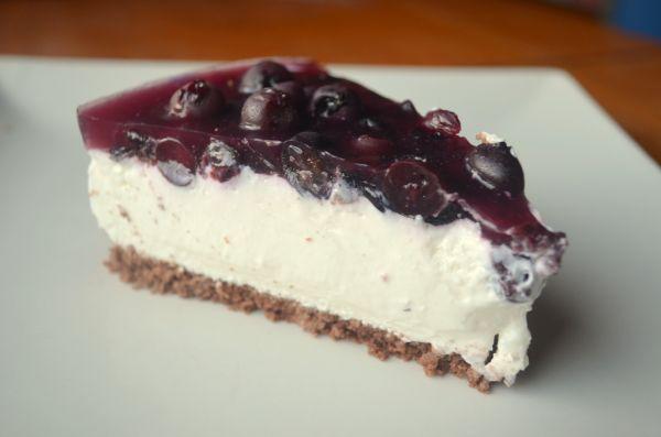 Fotorecept: Čučoriedkový cheesecake - Recept pre každého kuchára, množstvo receptov pre pečenie a varenie. Recepty pre chutný život. Slovenské jedlá a medzinárodná kuchyňa