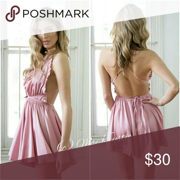 🎉JUST IN!!🎉 Satin Pink Romper This beauty is just in time for Spring. I have beige, green and pink in stock🎉 💟Please check other listings in my closet to view. 💟Let me know if you have questions on sizes!  NOT Asos. Brand Exposure  only ASOS Tops