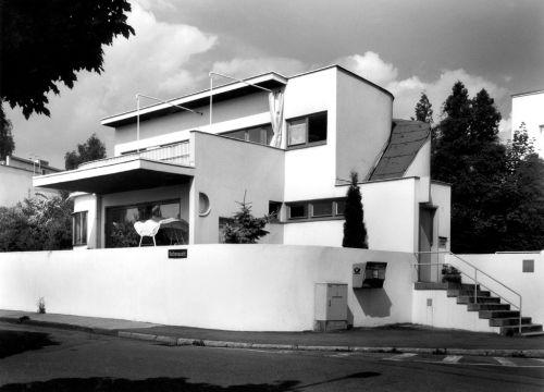 Stuttgart: Weißenhofsiedlung - Einfamilienhaus von Hans Scharoun 1989