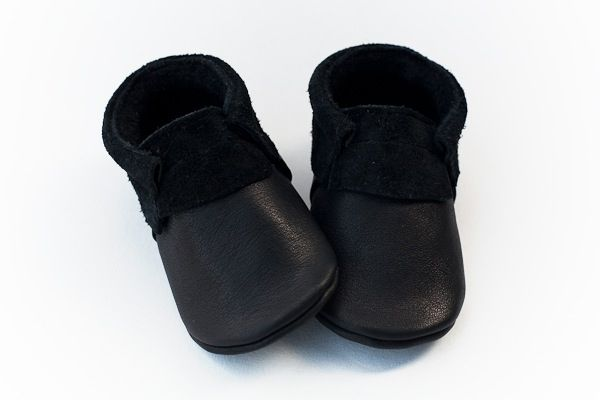 Image of Black - Suede Edge Moccasins