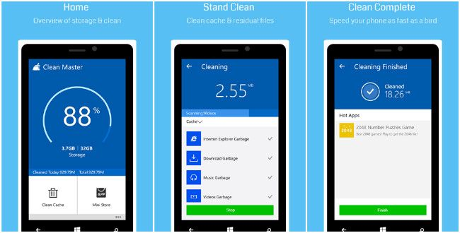 Clean Master cleaner app is now available for Windows Phone
