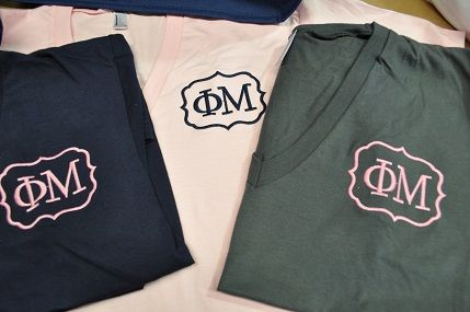 Phi Mu Small Quatrefoil Shirts-These are so adorable - Great for Recruitment Shirts, Bid Day Shirts or just for the LOVE of Phi Mu