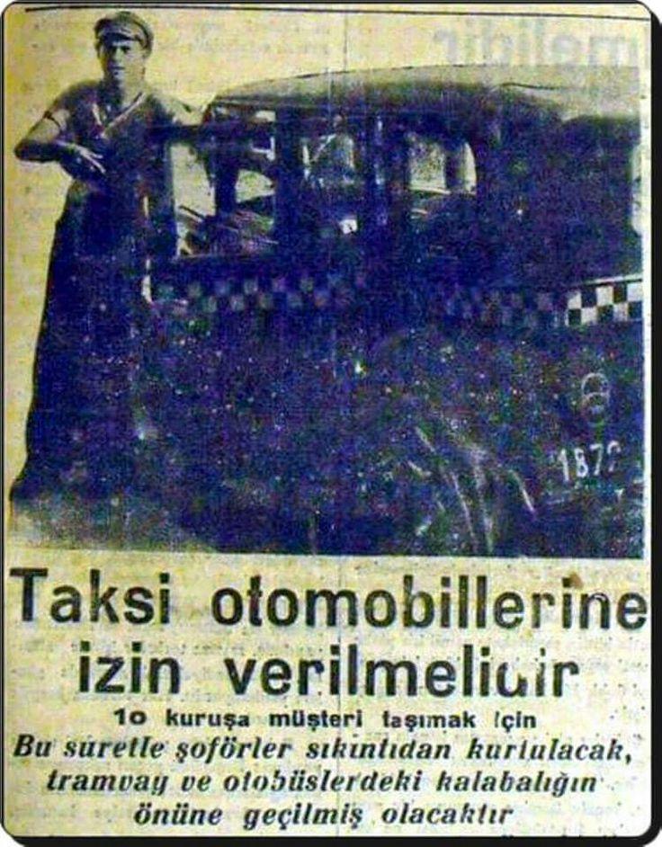 1930 lardan bir gazete haberi.