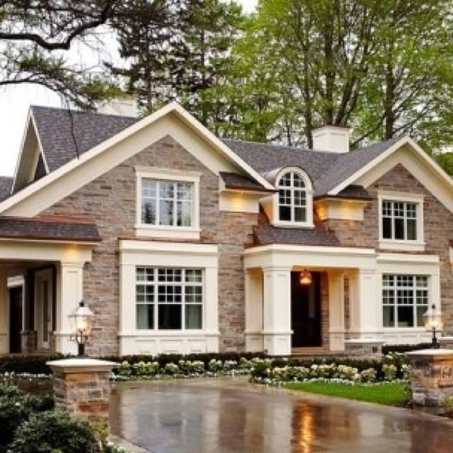 Dream dream home maison pinterest house bricks for Different mansion styles