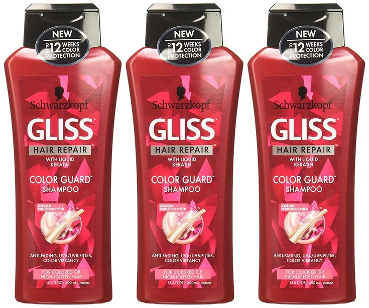 GLISS Hair Repair Shampoo, Color Guard for Colored of Highlighted Hair, 13.6 Ounces (Pack of 3) -- Find out more at the image link. #hairinspiration