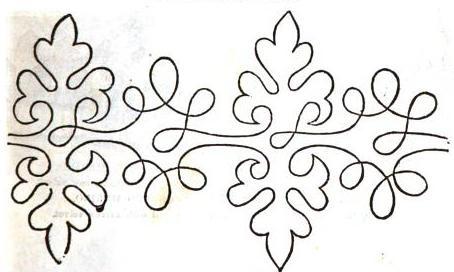 1865.  Arthur's Illustrated Home Magazine.  Braiding pattern.