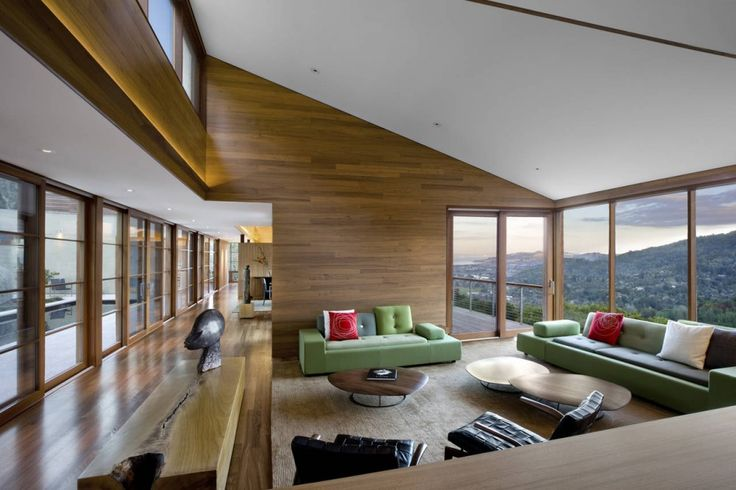 Interior of Kentfield Hillside Residence in California, USA by Turnbull Griffin Haesloop Architects