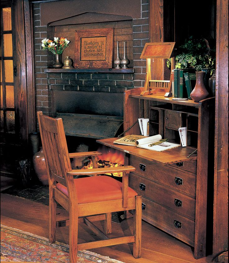 614 best mission craftsman style images on pinterest for Craftsman style office