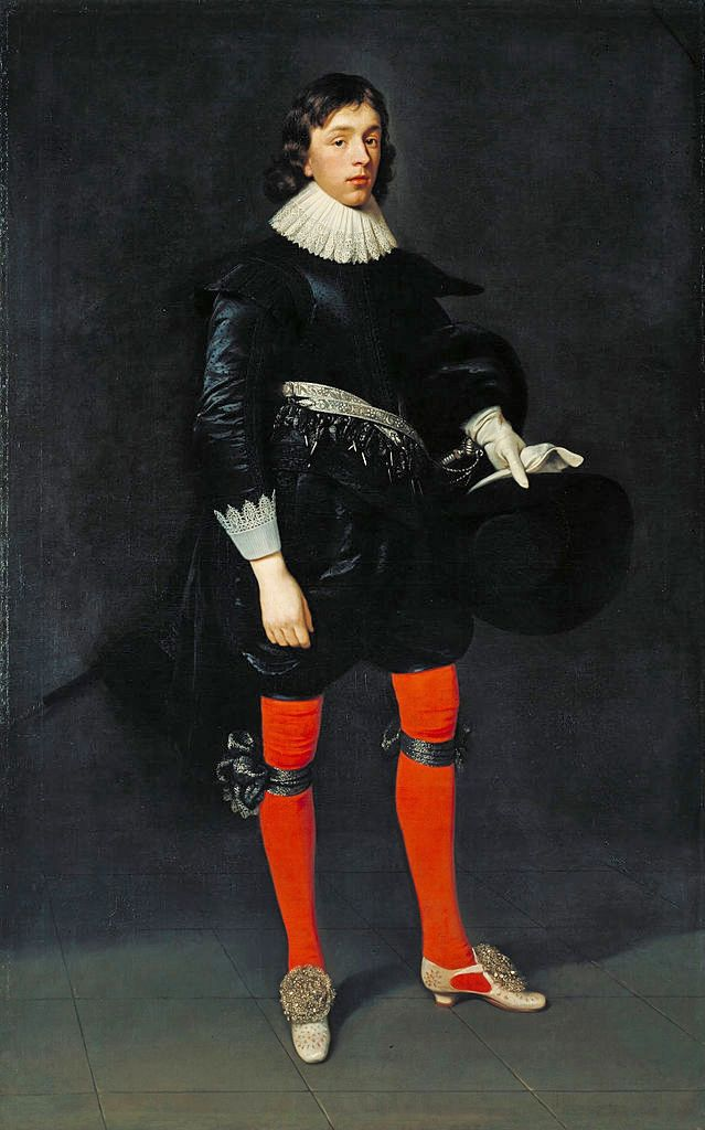 Джеймс Гамильтон, граф Арранский, впоследствии третий маркиз и первый герцог Гамильтон, в возрасте 17 лет. Автор: Даниэл Мэйтенс Старший (Daniël Mijtens, около 1590 – 1647/48), голландский художник-портретист, который долго работал в Англии. 1623 г. холст, масло. высота 200,7 см, ширина 125,1 см. Национальная галерея британского искусства (Tate Britain)