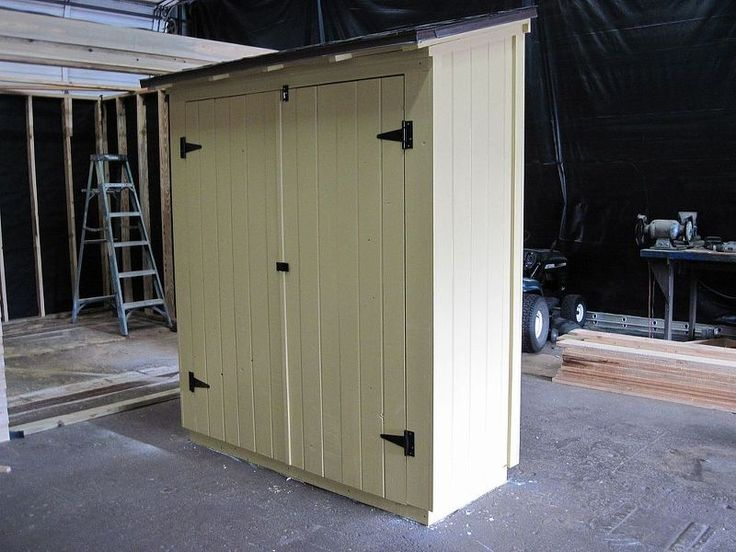 small outdoor storage, organizing, outdoor living, Narrow storage to be placed next to a house or fence