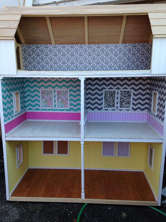 Custom full doll house fits american girl by QueenEmmaDesigns, $995.00