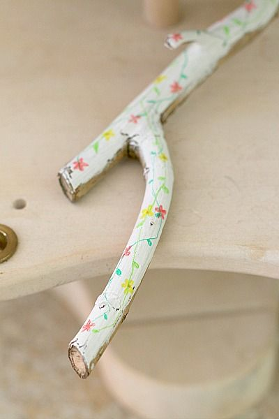 a painted stick - the perfect kid DIY!