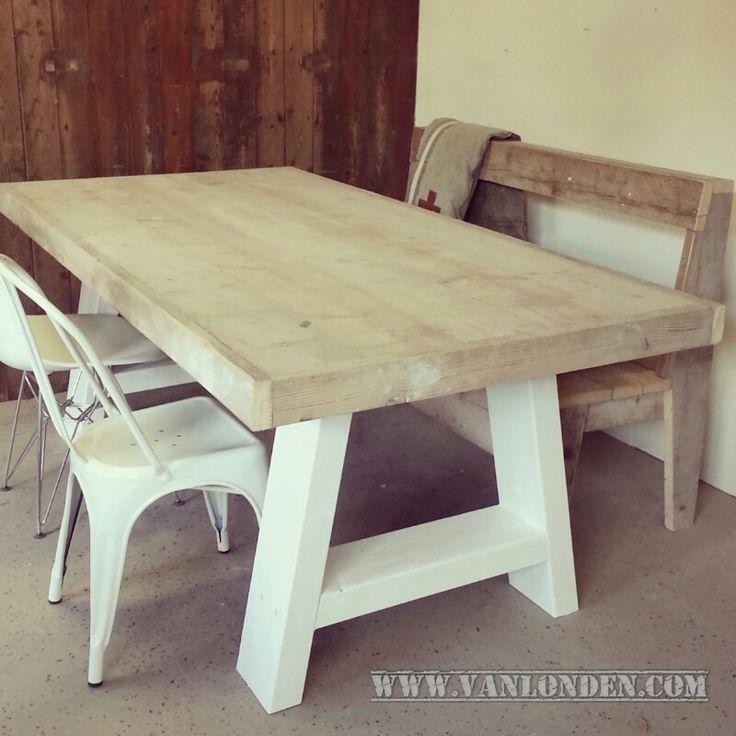 Meer dan 1000 idee n over tafelblad decoraties op pinterest natuurlijk hout decoratie en - Tafel met chevet ...