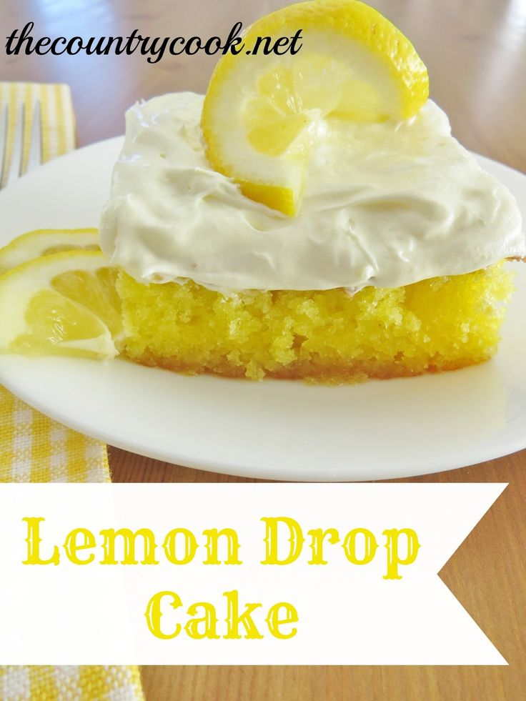 The Country Cook: Lemon Drop Cake x this cake is absolutely divine if you're in love with lemon!! ;) x