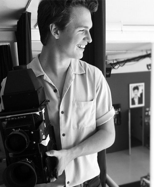 """Ansel Elgort - """"I got into movies watching old films my dad had. It was those old movies, actually, that really got me started."""""""