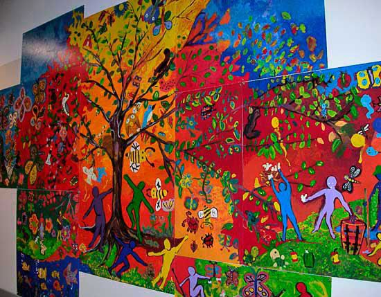 17 best images about cafeteria wall murals on pinterest for Elementary school mural