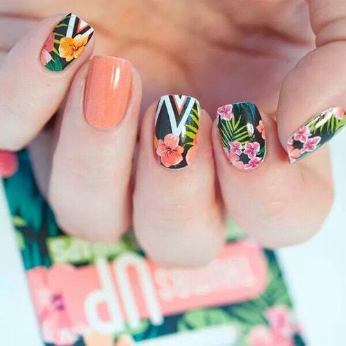 Tropical Nails #nail #art #inspo