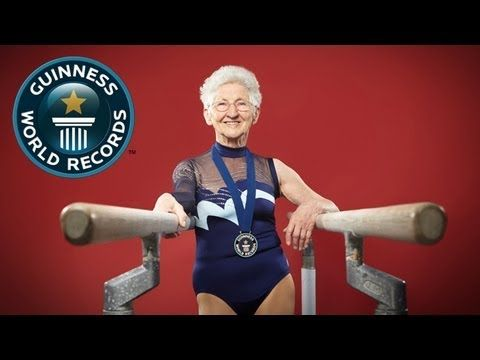 She proves my theory: if you do a cartwheel every day of your life, there will never be a day in your life when you can't do a cartwheel. She is such an inspiration! World's Oldest gymnast - Meet The Record Breakers - Guinness World Records - YouTube