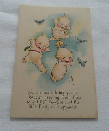 Kewpies Post Card Published by The Gibson Art Co 69077 | eBay