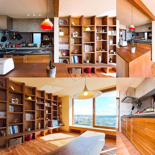 自邸。キッチン。たくさんの家をプロデュースしてきて、安く最高なスタイルは!壁付けタイプです。更に出窓で奥行きを取ります。食器棚は置かない。作業スペース確保が第一優先。次にモチベーションを上げる為の雰囲気。そうしたら出てくる料理が美味しくなります。#glam_plan#自邸#照明#キッチン#工務店#建築家#インテリア#新築#リフォーム#リノベーション#アンティーク#北欧#ボヘミアン#RC#本棚#ダイニング#キッチン#ダイニング#タイル貼り