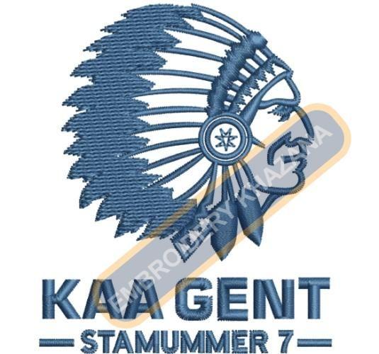 Kaa Gent logo embroidery design