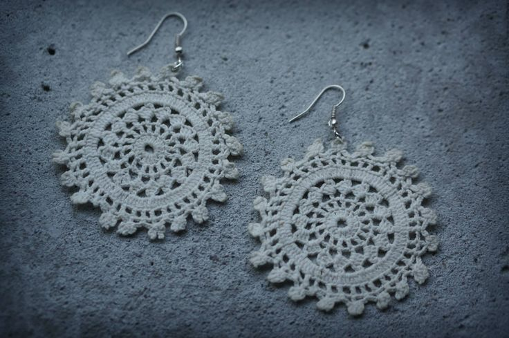 Lace earrings from old doilies
