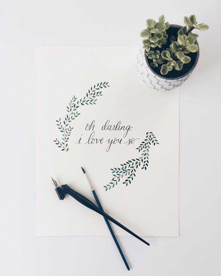 Oh darling I love you so. PrattPapeterie calligraphy.